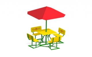 Детский столик с зонтиком З-11