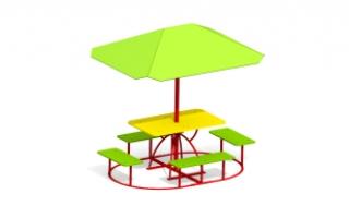 Детский столик с зонтиком З-12