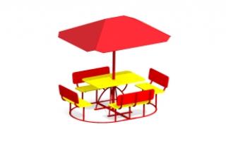 Детский столик с зонтиком З-13