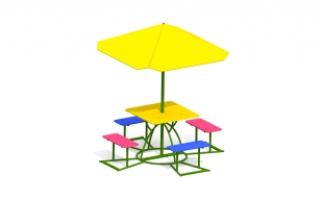 Детский столик с зонтиком З-14
