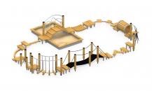 Модульная полоса препятствий с песочницей МПП-3
