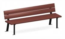 Скамейка с металлическими ножками С-204