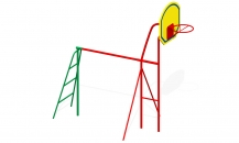 Турник с баскетбольным кольцом Т-1м