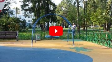 """Embedded thumbnail for Качели маятниковые К-30м с подвесом """"Гнездо"""""""