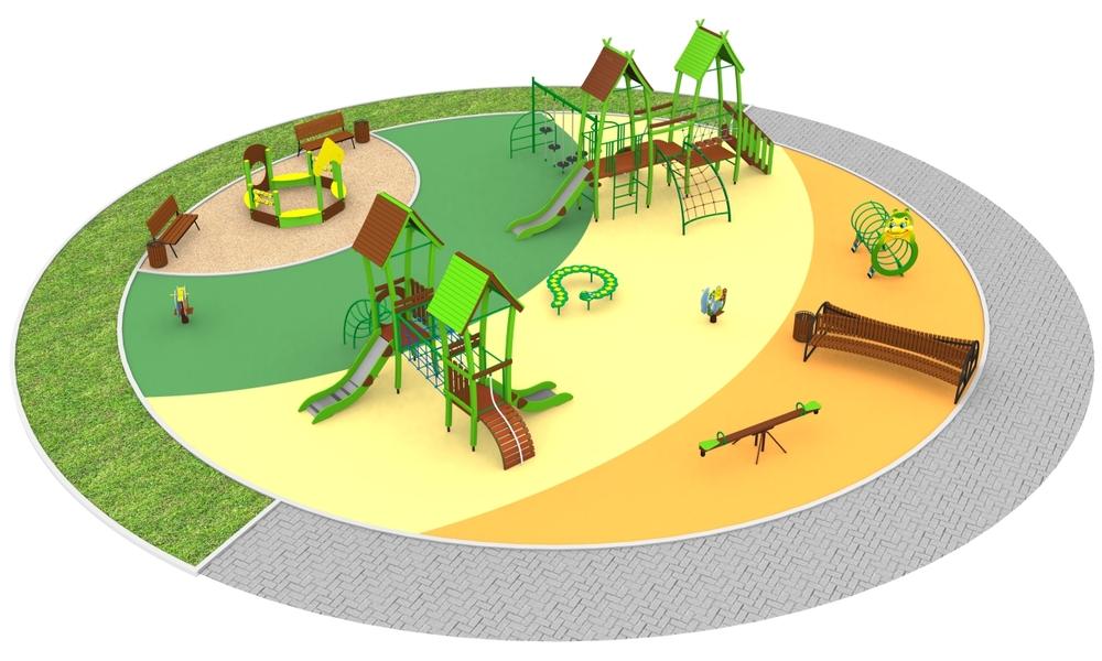 """Детские площадки в стиле """"Танцующий городок"""""""